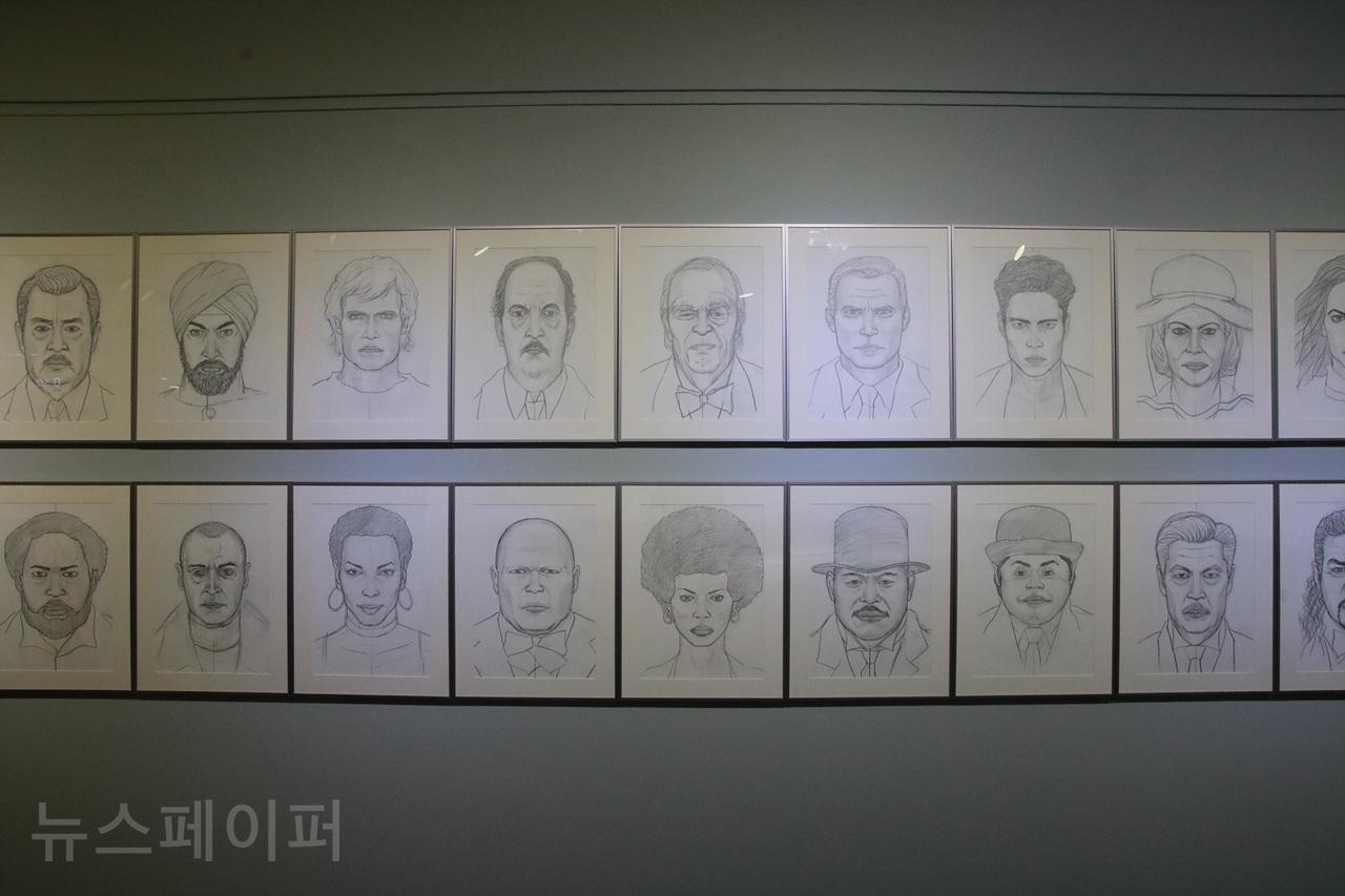 손동현 작가의 '헨치맨 Henchman' 연작 [사진 = 김보관 기자]