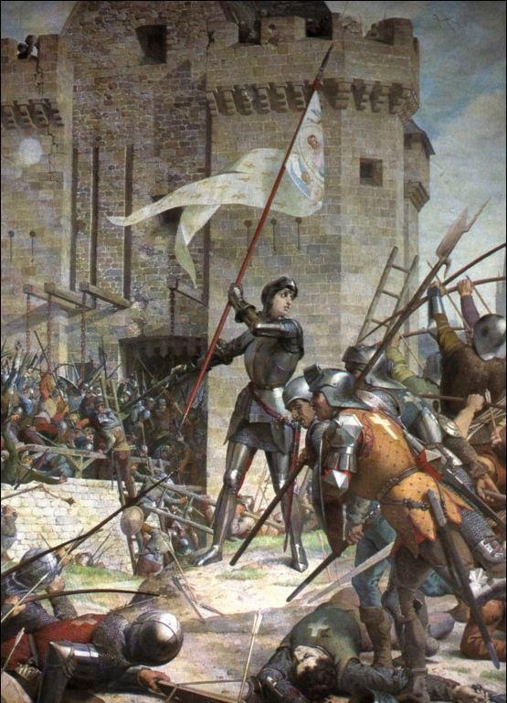 잔 다르크의 오를레앙 포위전을 그린 Jules Eugène Lenepveu의 작품. 1886~1890.