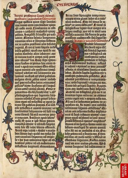 구텐베르크는 『42행 성서』의 인쇄를 위해 290개의 서로 다른 자모를 만들었다. 삽화로 그려진 머리글자와 부호들은 채색공이나 식자공들이 삽입하여 넣었다.